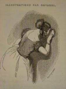 """Gravure extraite des """"Petits mystères de l'Opéra"""". 1844"""