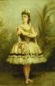 """Mme Berthe Bernay, soliste puis professeur à l'Opéra dans """"Les deux pigeons"""". Burrel."""