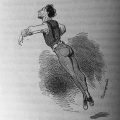 """Louis Frémolle par Gavarni. """"Les petits mystères de l'Opéra""""."""
