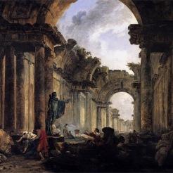 Hubert Robert : La grande galerie du Louvre en ruine. 1796