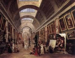 Hubert Robert : La grande galerie du Louvre, 1796
