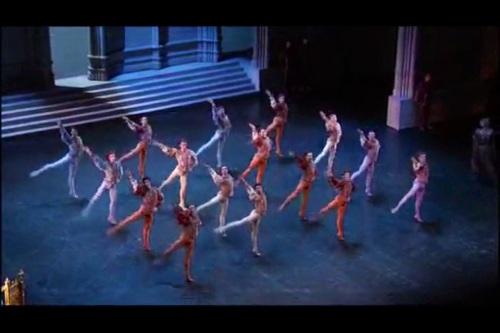 """... et la """"Danse des coupes"""", préfiguration de la vision des cygnes."""
