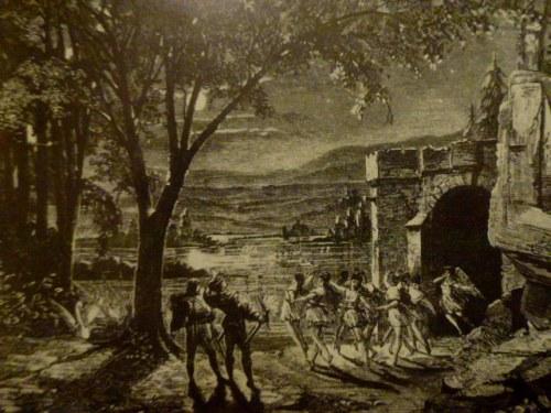 Le Lac des Cygnes, Moscou, 1877. Une évocation du décor du 2e acte partiellement corhoborée par les sources journalistiques