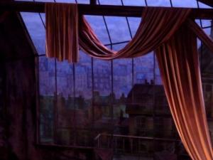 The Two Pigeons. Une vue plongeante sur le vieux Paris