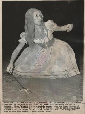 Natalia Makarova, Londres 1966 (juste après sa défection).