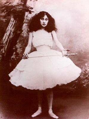 Giselle, Anna Pavlova aux alentours de sa prise de rôle en 1903