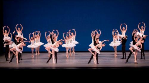 New York City Ballet in George Balanchine's Symphony in C. Photo credit Paul Kolnik