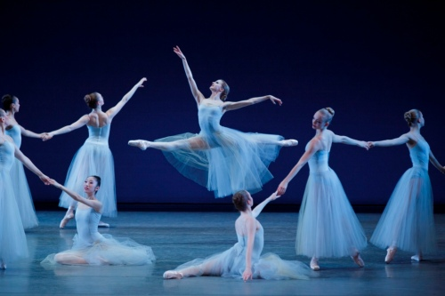Sterling Hyltin and Company in George Balanchine's Serenade. Photo credit Paul Kolnik. Courtesy of Les Etés de la Danse.