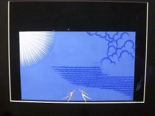 Erté. Projet de décor pour En Sol de Robbins (1975)