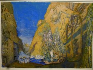 Décor pour le Dieu bleu (1911).