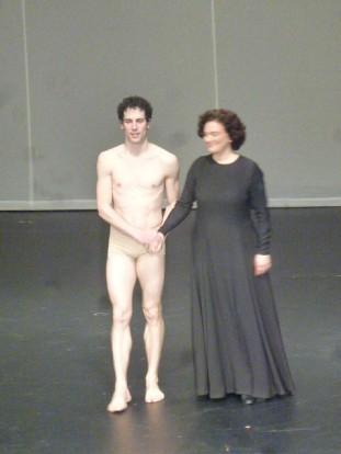 Stéphane Bullion et son alter ego chanté, la mezzo soprano Maria Riccarda Wesseling