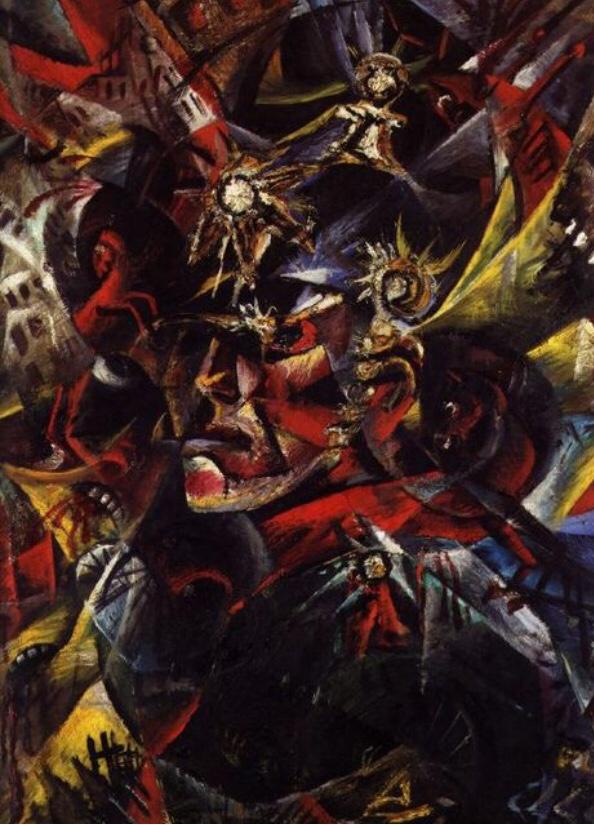 Otto Dix, autoportrait en dieu de la guerre, 1915