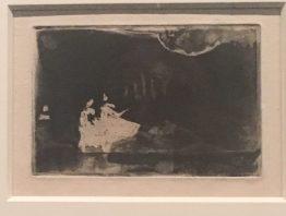 Sur la scène II. Aquatinte et vernis mou (état unique). 1877. Boston. Museum of Fine Arts