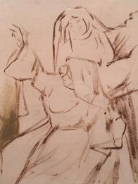 Nonnes dansant. Etude pour Robert le Diable. 1871. Londres. Victoria and Albert Museum