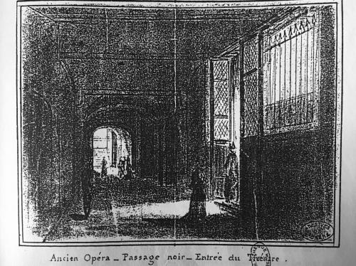 """""""Inconnus"""": """"On ne passe pas!"""". Le passage noir de l'Opéra de la rue Lepelletier."""
